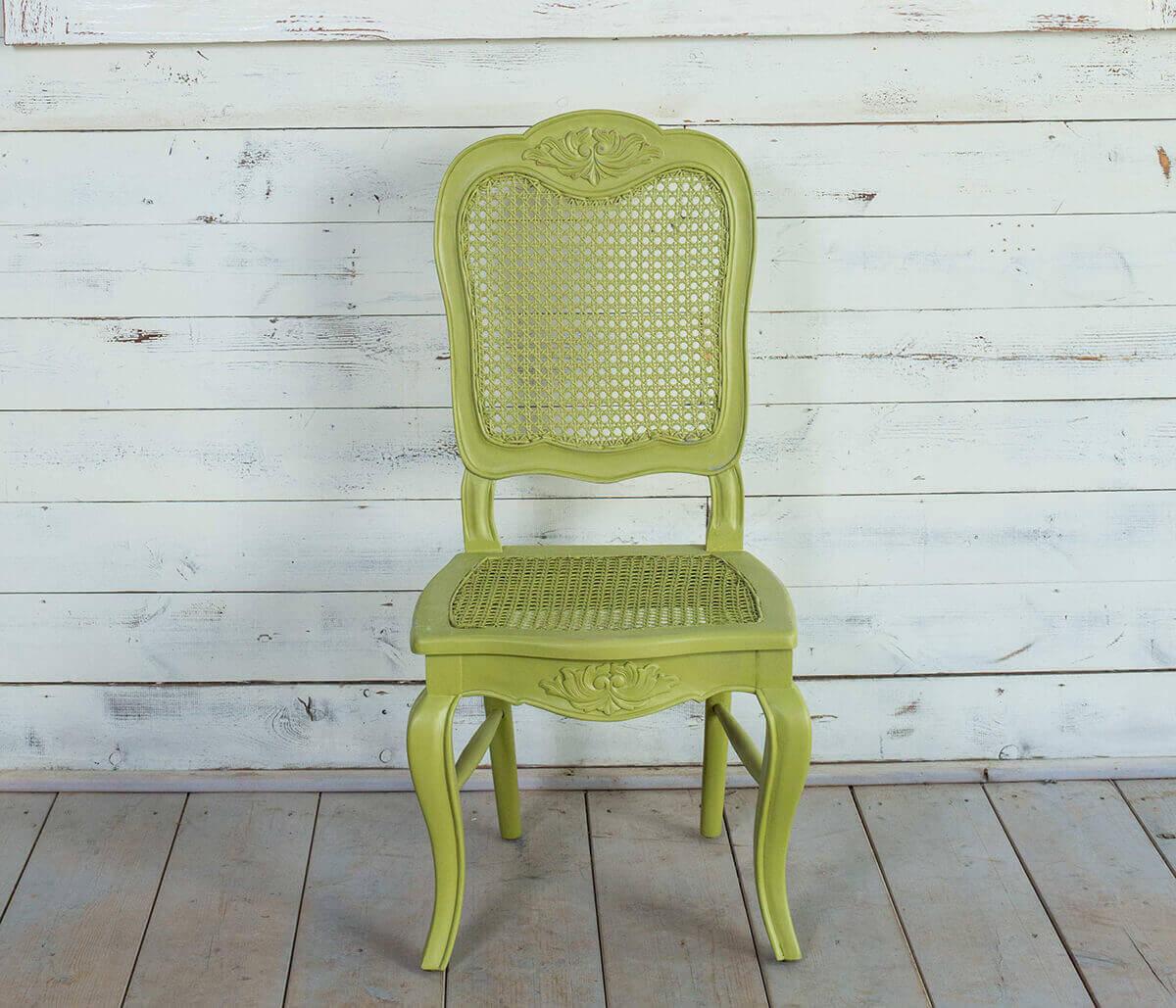 כיסא עץ מלא גב רשת וינאית