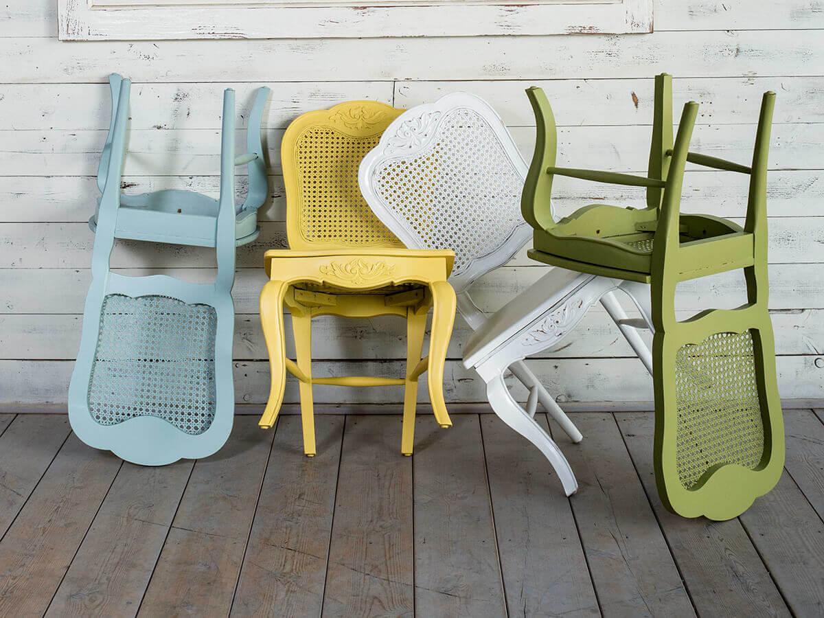 כיסאות עץ מלא גב רשת וינאית