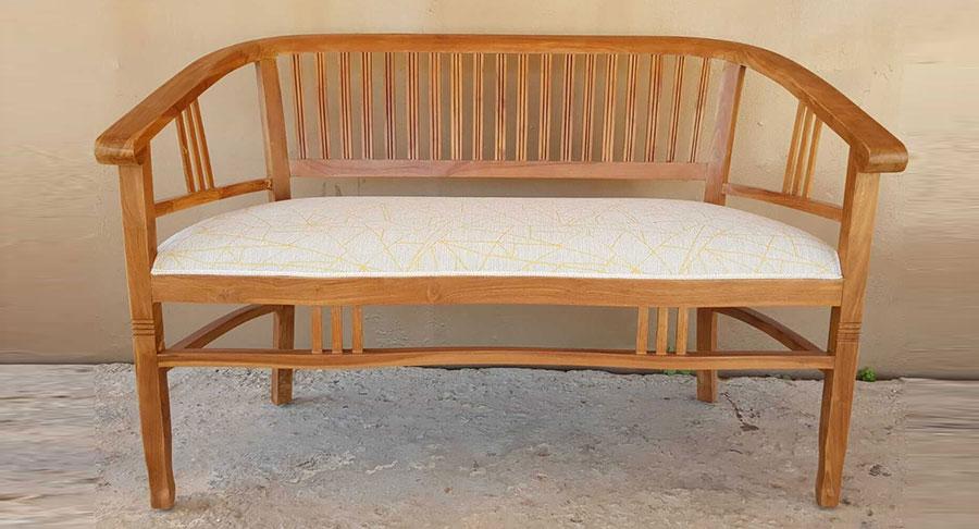 ספסל עץ מלא טיק דגם ביטויי  במחיר מבצע: 1,500 שח