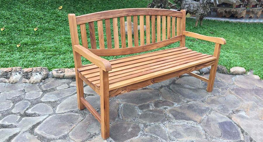 ספסל דגם גב אובל מקסים מעץ טיק משובח במחיר מבצע: 1,800 שח
