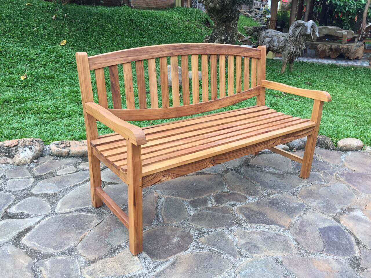 oval bench teal