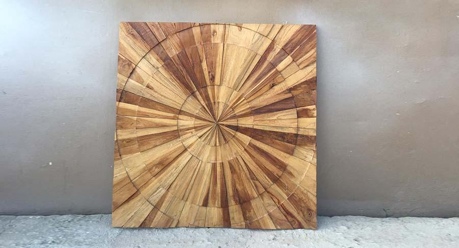 """תמונת קיר מעוצבת עץ טיק במחיר מבצע: 690 ש""""ח במקום 1260 ש""""ח"""