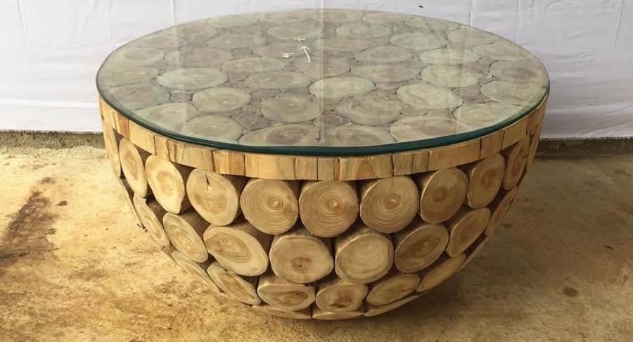 """שולחן סלון בולי עץ במחיר מבצע: 1800 ש""""ח במקום 2500 ש""""ח"""