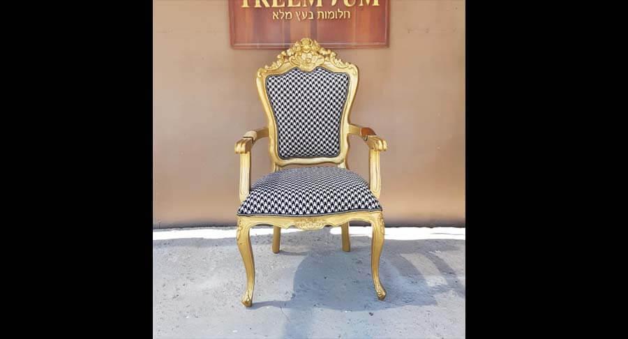 """כיסא מהודר עץ מלא במחיר מבצע: 1,800 ש""""ח"""