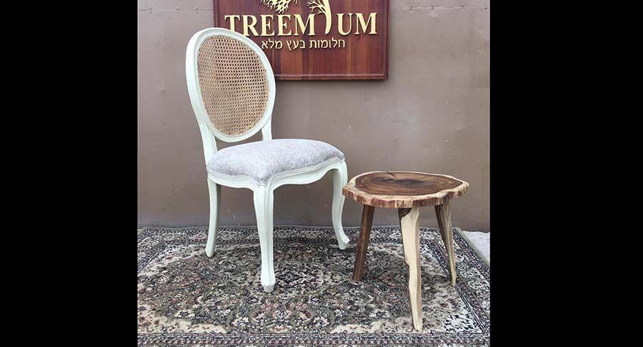 """כיסא עץ מלא במחיר מבצע: 990 ש""""ח במקום 1400 ש""""ח"""