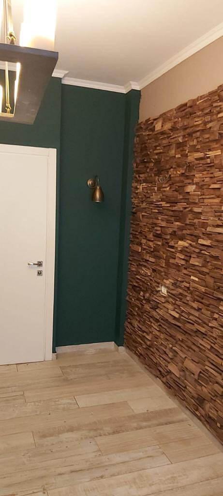 חיפוי קיר מעץ טיק