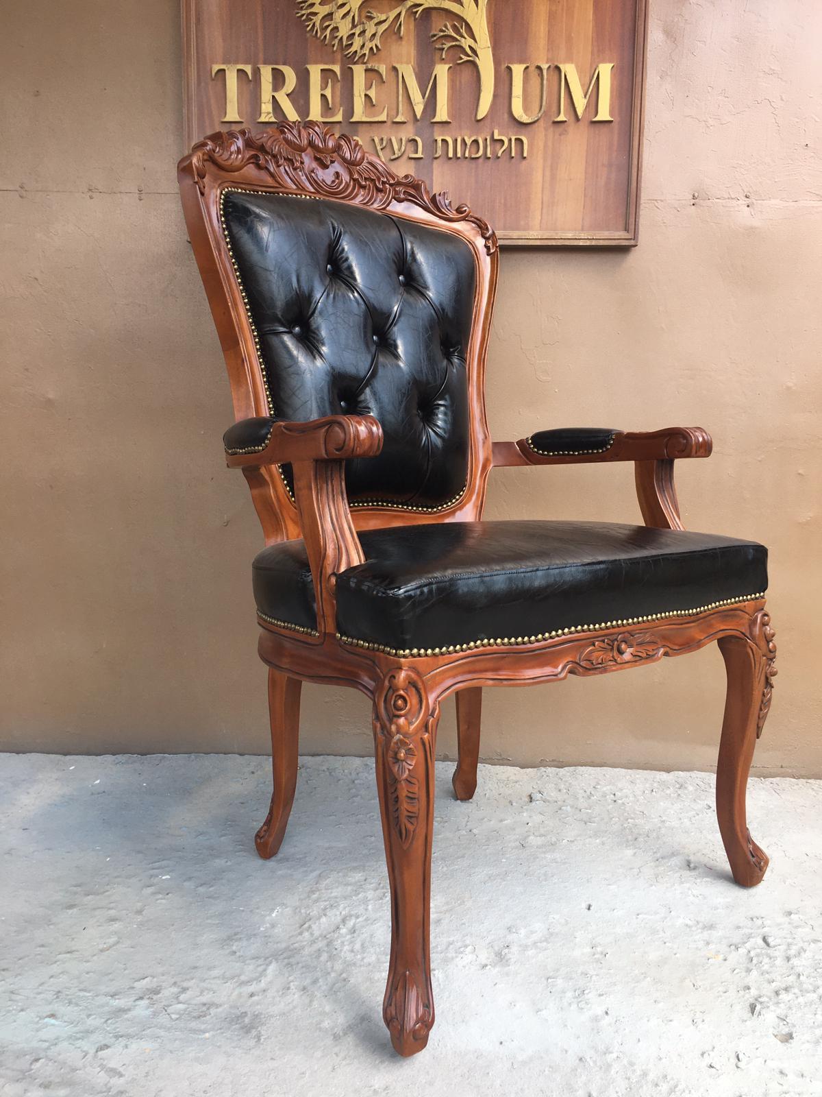 כיסא מפואר גילוף יד האדמור מנדברונה עלעד