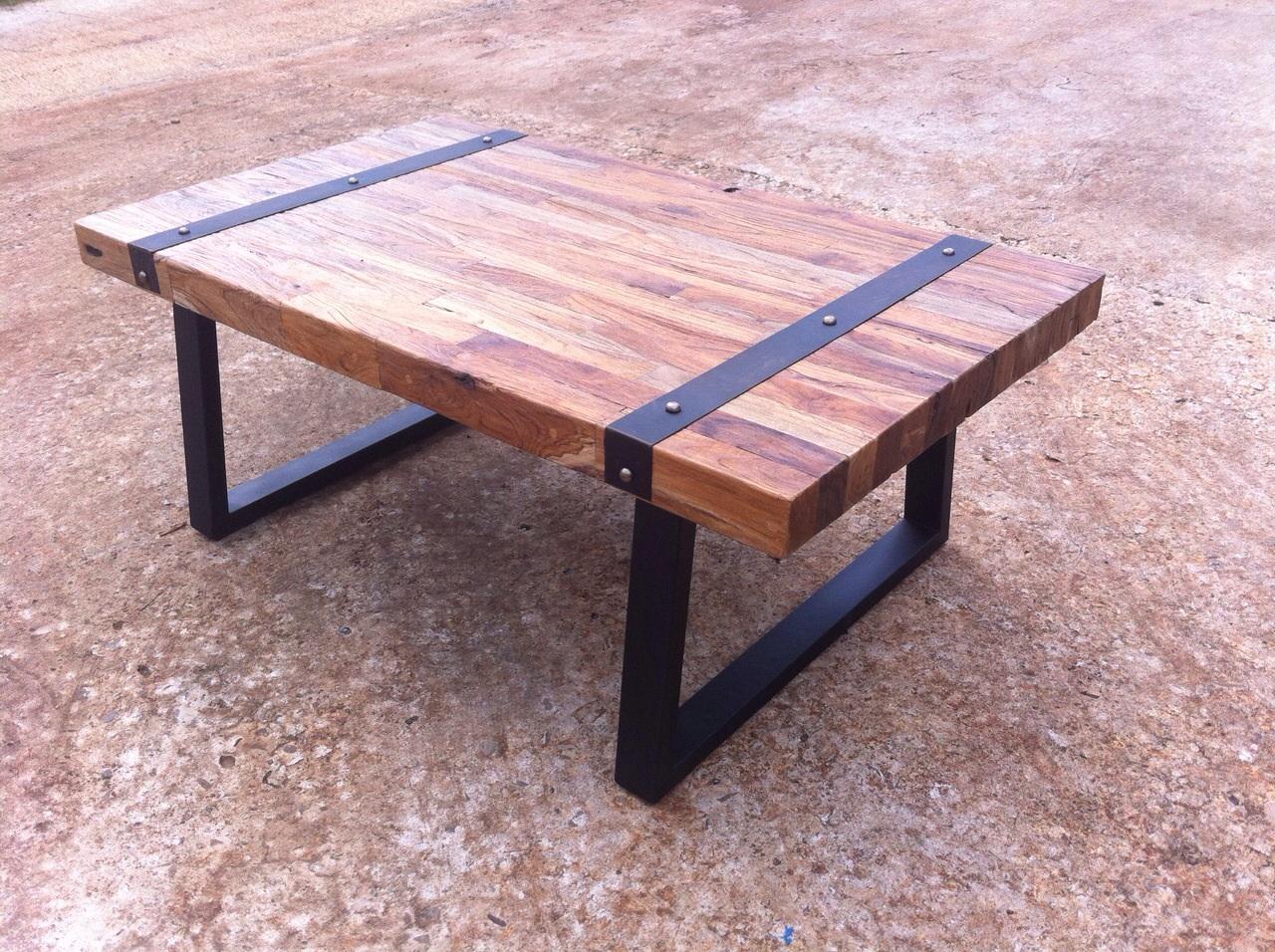 rustic coffee table teak wood