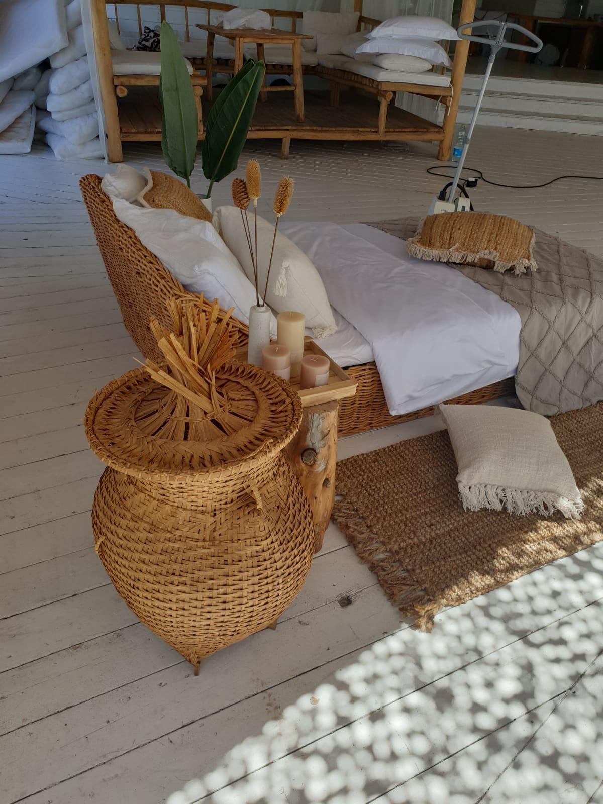 מיטת רביצה ראטן טבעי