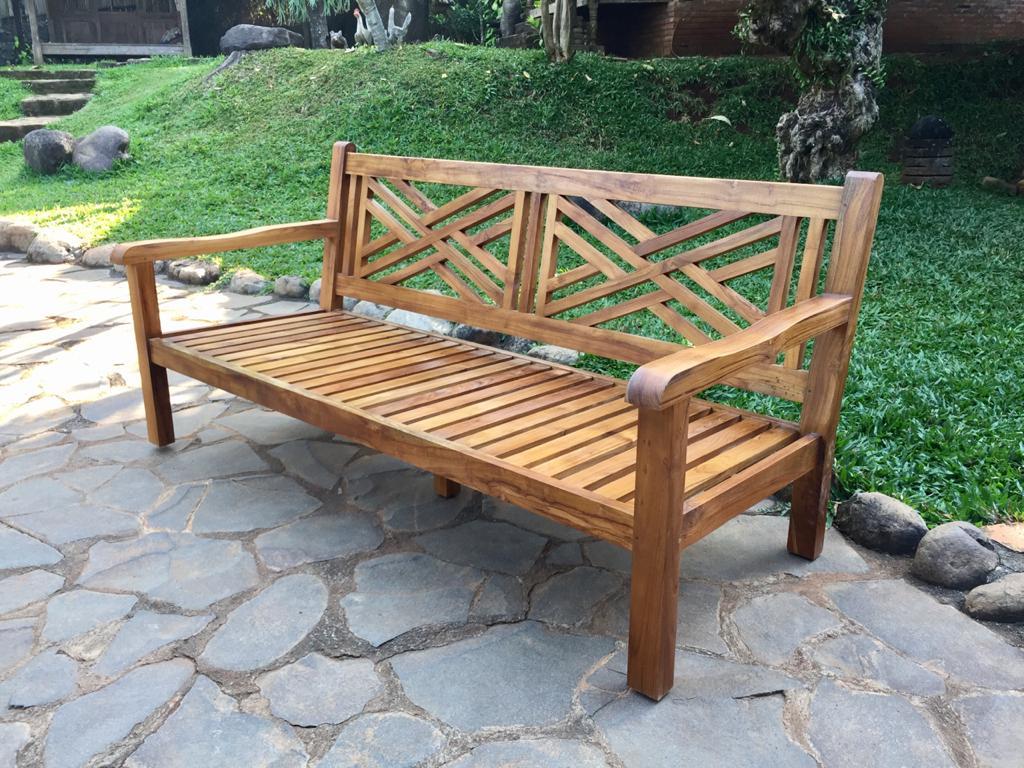 cross back bench