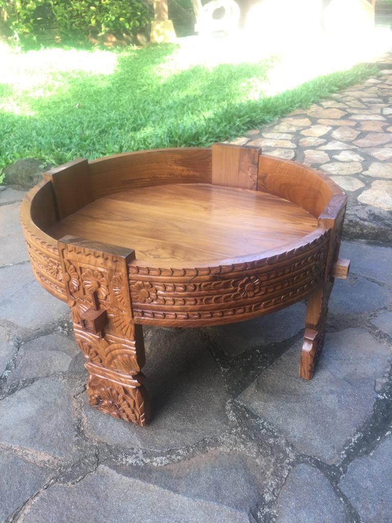 """שולחן ייחודי עץ טיק גילוף עבודת יד במחיר מבצע: 1,800 ש""""ח"""