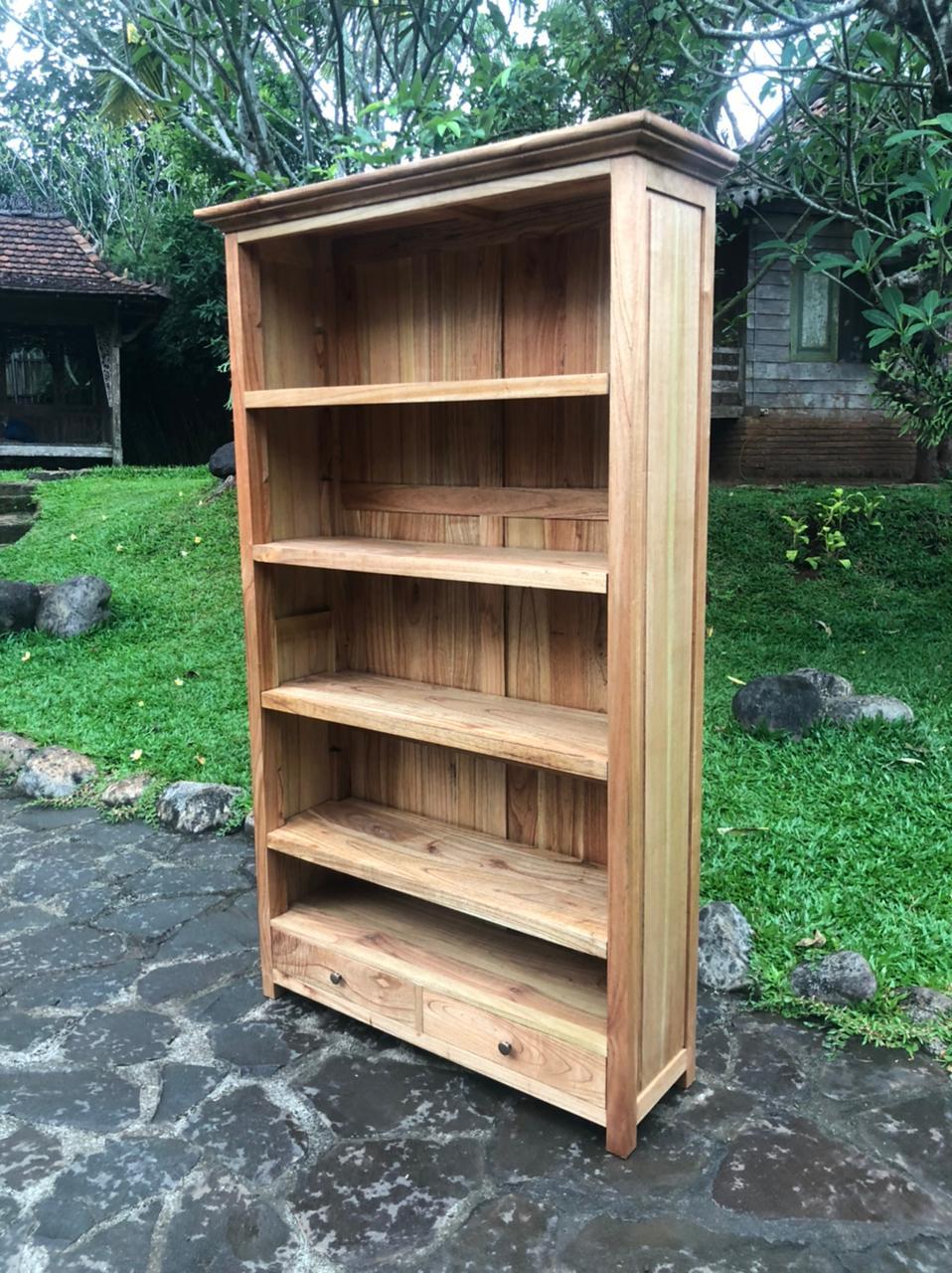 """ספרייה דגם 5133 עץ מלא 2 מגירות במחיר מבצע: 3,200 ש""""ח"""