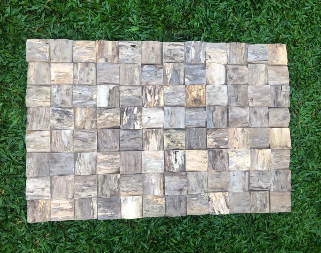 """תמונת קיר מעוצבת עץ טיק דגם block root במחיר מבצע: 990 ש""""ח"""