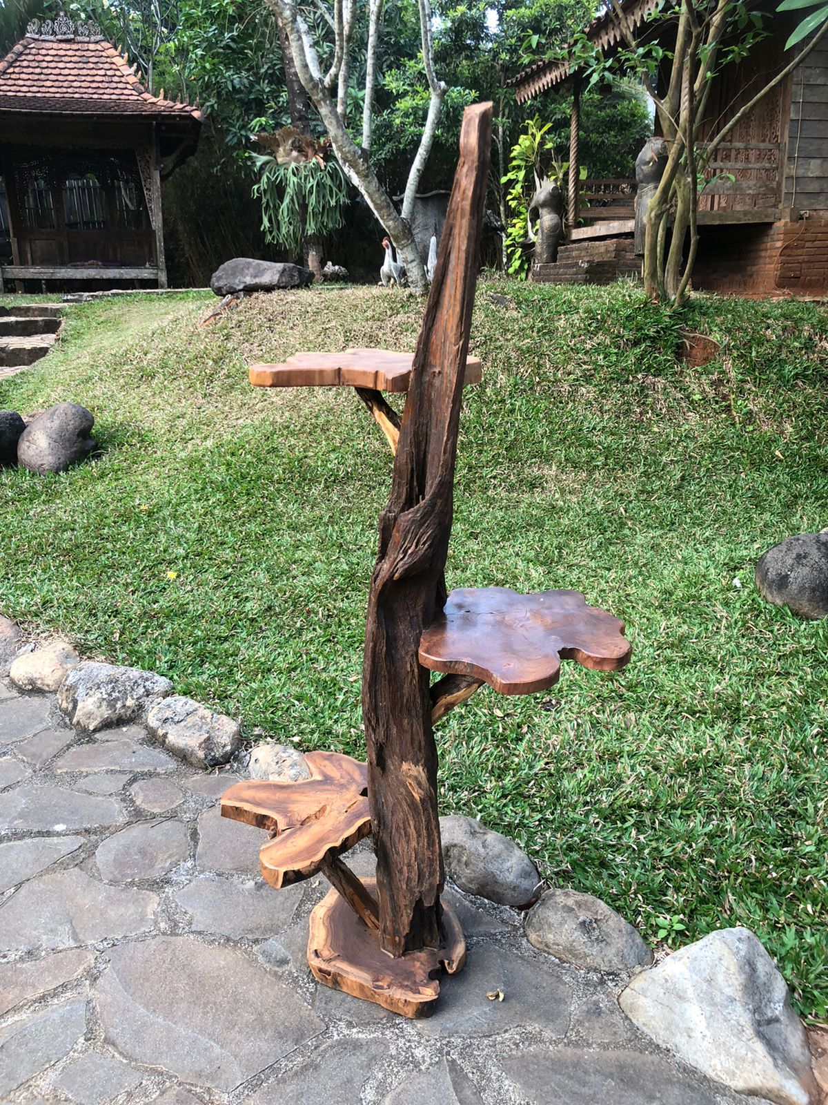 """מעמד עציצים/סטנד דקורטיבי מדהים מעץ טיק במחיר מבצע: 990 ש""""ח"""